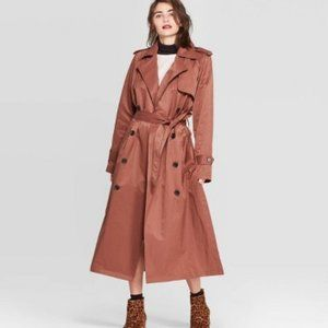 Women's Plus Size Trench Coat - a new day